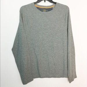 Club Room XL Thermal Shirt Crewneck Gray NWOT
